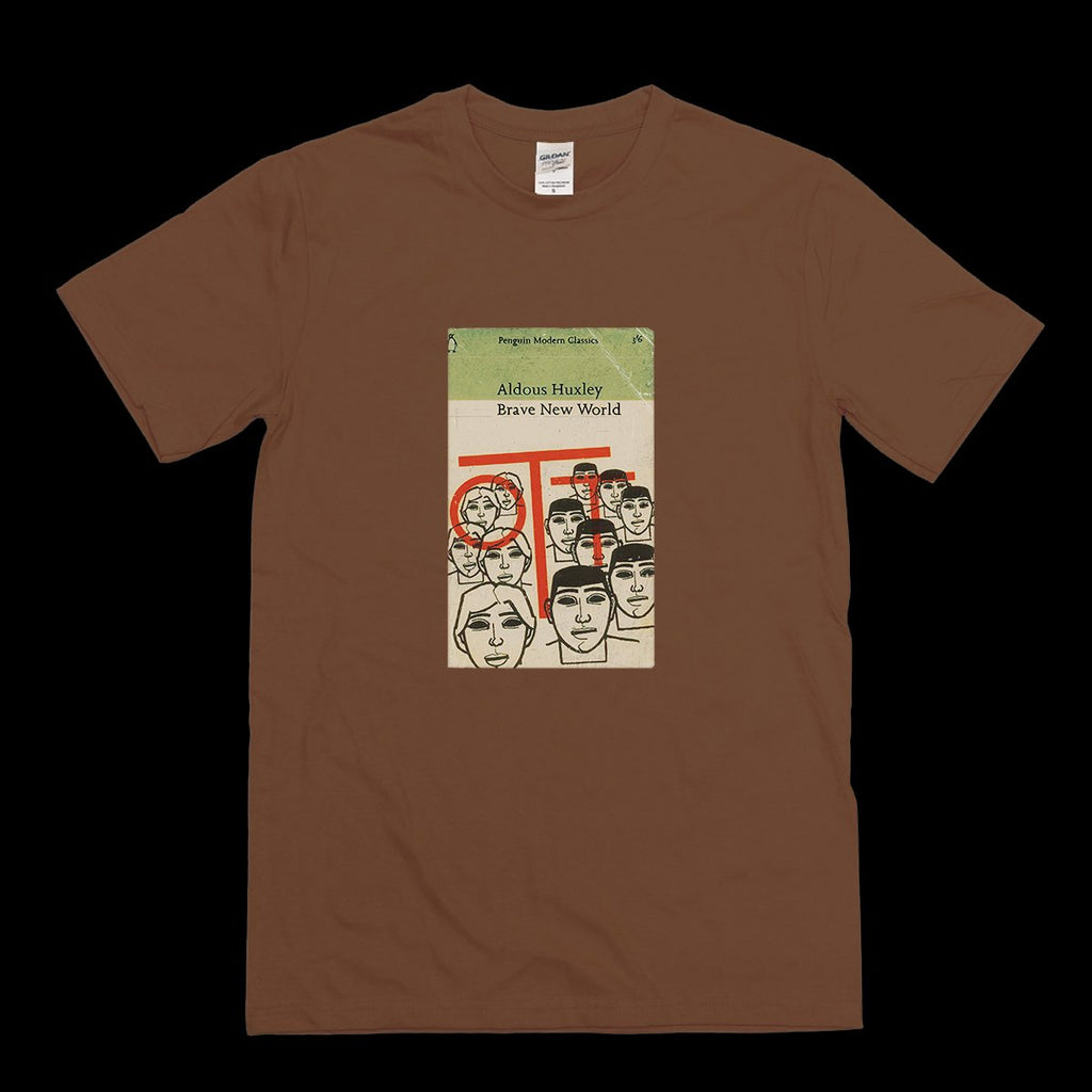 Brave New World Aldous Huxley Vintage Book T-shirt
