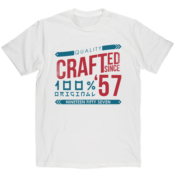 Crafted in 1957 Year T Shirt