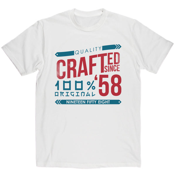 Crafted in 1958 Year T Shirt