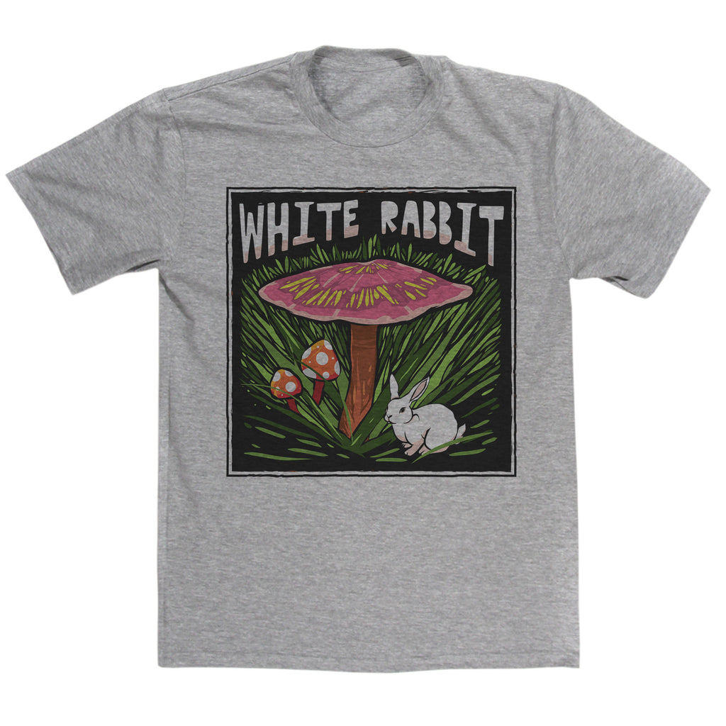 Jefferson Airplane Inspired White Rabbit T Shirt