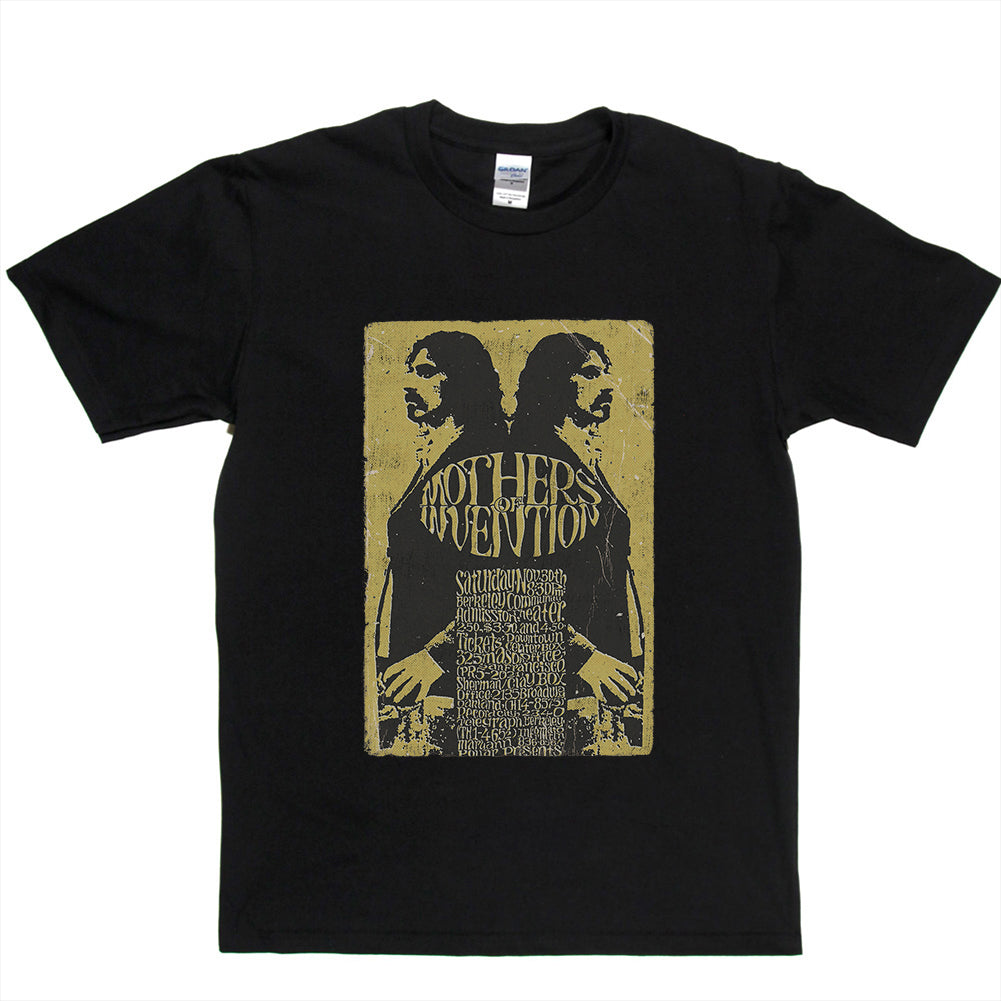 Zappa - Mothers of Invention Vintage Poster T-shirt