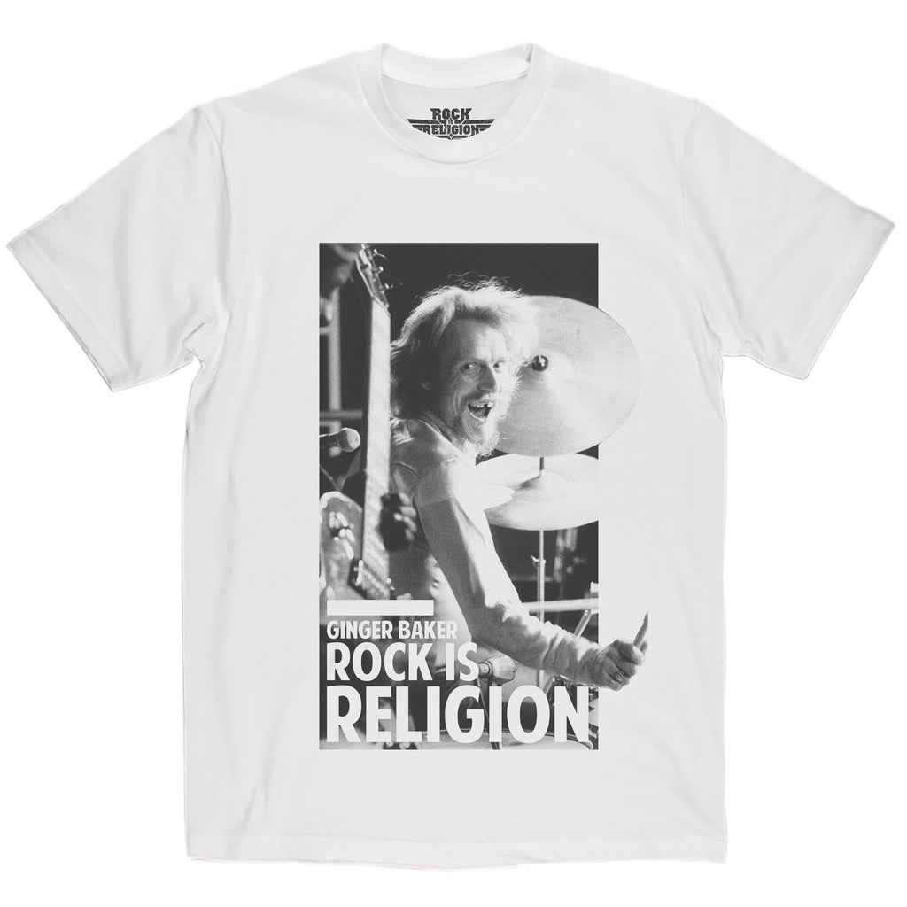 Rock is Religion Ginger Baker T Shirt