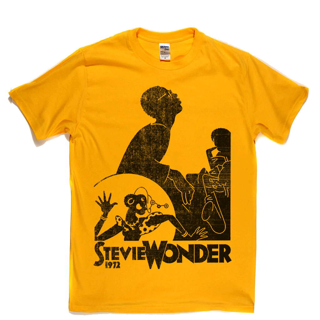 Stevie Wonder 1972 Poster T-Shirt