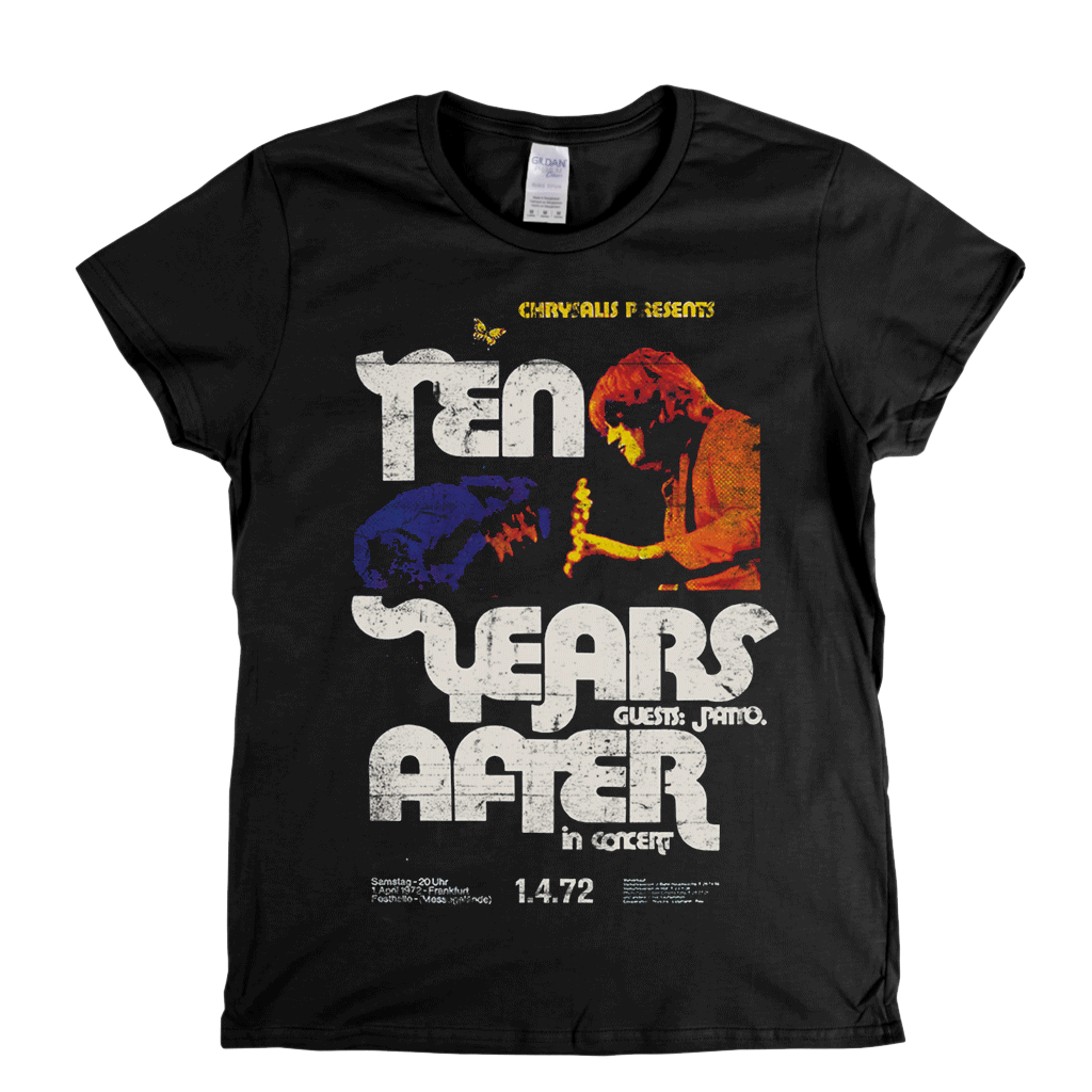 Ten Years After In Concert Poster Womens T-Shirt