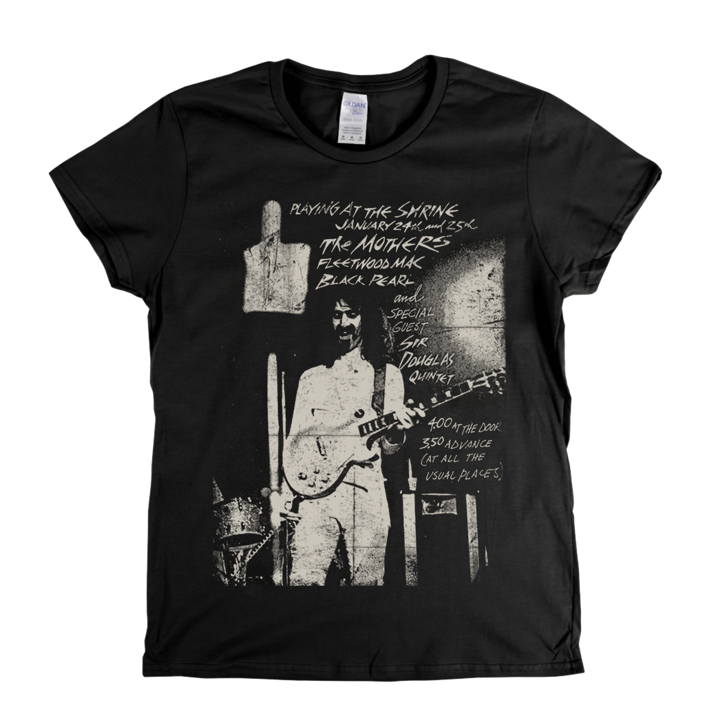 Zappa Playing At The Shrine Poster Womens T-Shirt