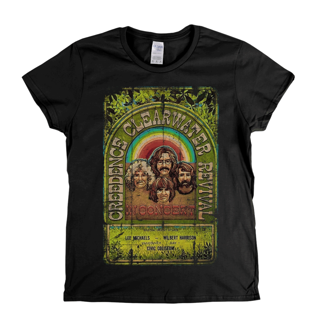 Creedence Clearwater Revival Poster Womens T-Shirt