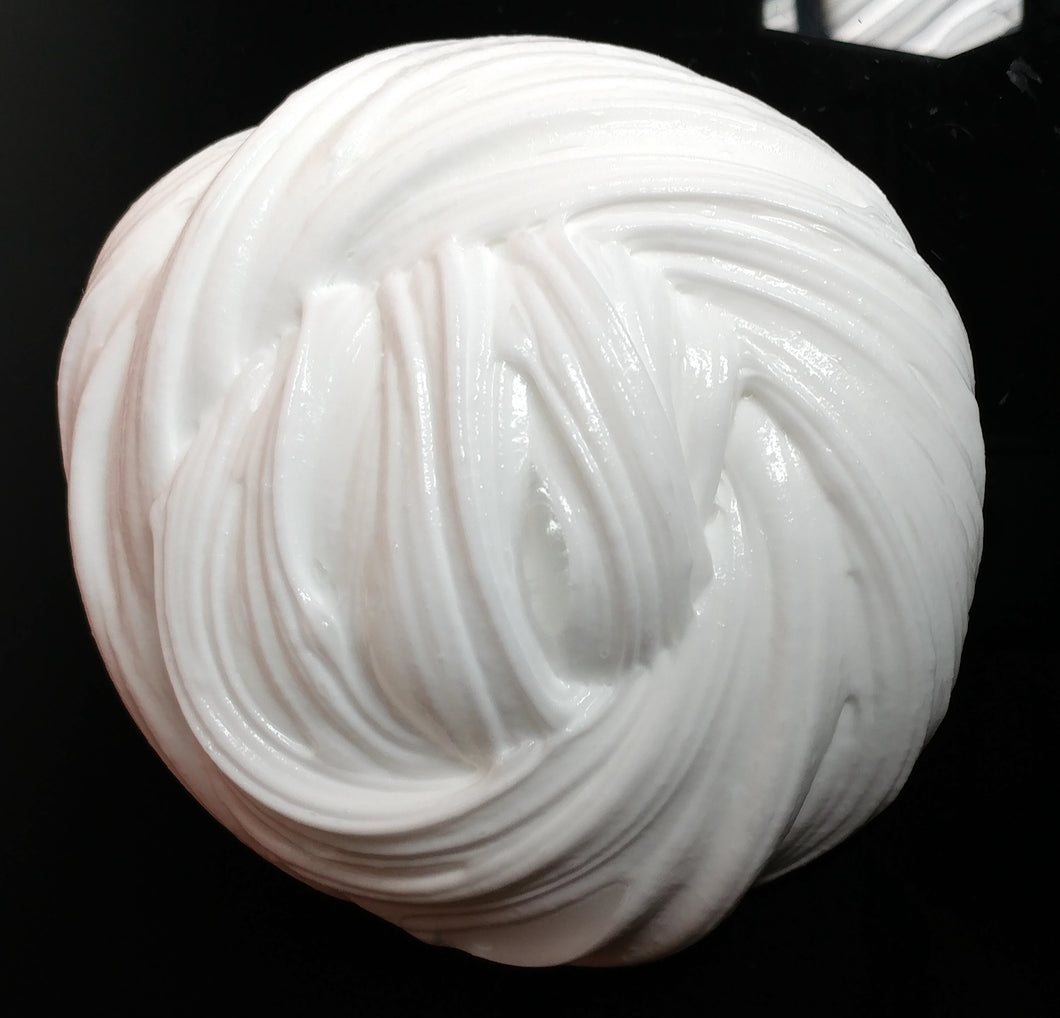 Fluffy Clouds Bright White Soft Glossy Slime