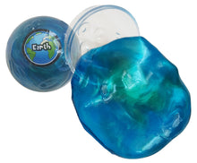 Earth Planet Putty Marble Glossy Slime w/ Planet Container