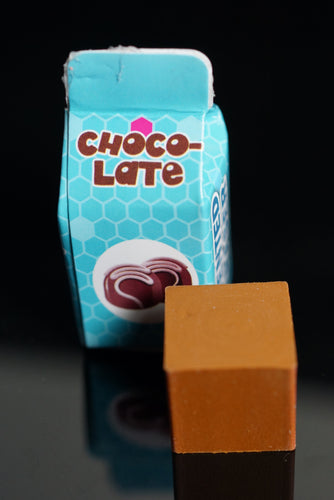 Chocolate Brown Scented Milk Carton Cube Eraser - Kawaii Toy Gift