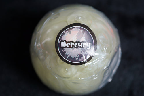 Mercury Planet Putty Marble Glossy Slime w/ Planet Container