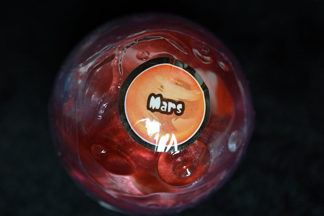Mars Planet Putty Marble Glossy Slime w/ Planet Container