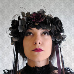 Art Nouveau Gothic Flower Headpiece-By Bizarre Noir