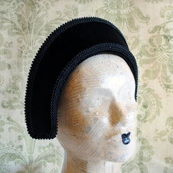 Black Velvet French Hood-By Bizarre Noir