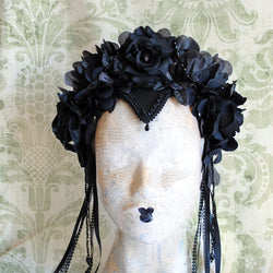 Gothic Dark Fairy Flower Crown-By Bizarre Noir