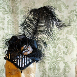 Gothic Striped Halloween Spider Headpiece-By Bizarre Noir