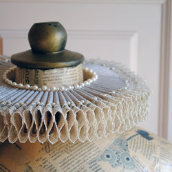 Historical Elizabethan Neck Collar with Lace-By Bizarre Noir