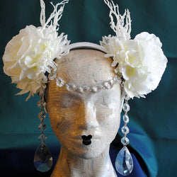 Ice Queen Costume Headpiece-By Bizarre Noir