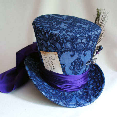 Mad Hatter Cosplay Ladies Top Hat in Blue   Purple-By Bizarre Noir b8e11a11ffd
