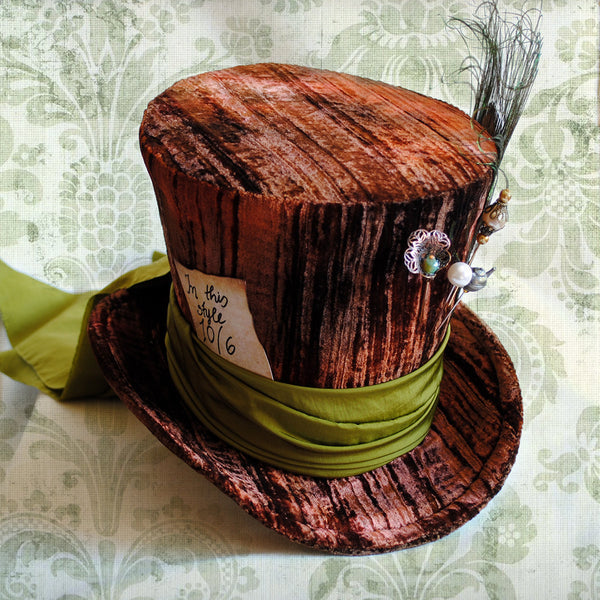 Mad Hatter Lady's Perching Top Hat-By Bizarre Noir