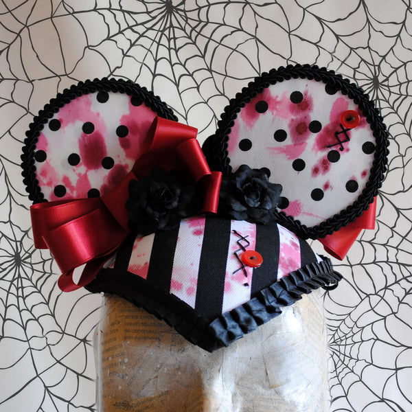 Miss Bloody Mouse Minnie Mouse Ears Headpiece-By Bizarre Noir