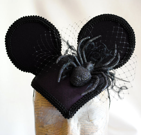 Miss Itchy Bitsy Mouse Gothic Halloween Ears Headpiece-By Bizarre Noir