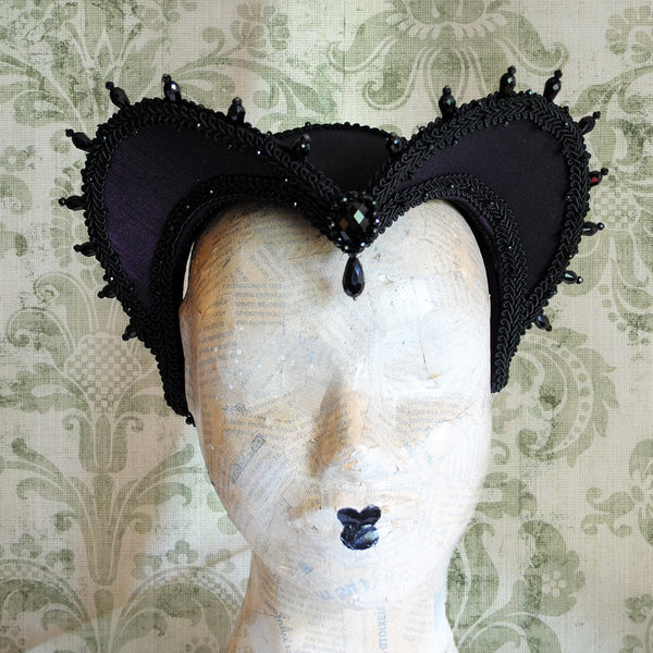 Purple Gothic Vampire Fantasy Headdress-By Bizarre Noir