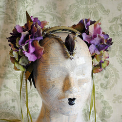 Queen of Elfs Costume Flower Headpiece-By Bizarre Noir