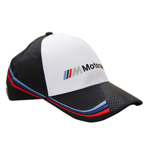 Official BMW Motorsport M Power Baseball Hat Champion Racing Unisex White Cap