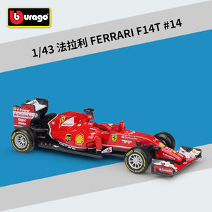 New Formula 1 Fernando Alonso 14 Ferrari Car Model F1 Racing Driver F14T Hybrid 1:43 By Bburago