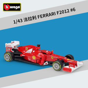 New Formula 1 Felipe Massa Ferrari #6 Car Model F1 Racing Driver F2012 Hybrid 1:43 By Bburago