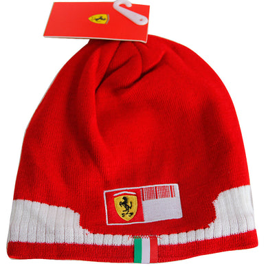 New Ferrari Formula 1 Sebastian Vettel Red Skull Cap Racing Ski Winter Beanie Hat