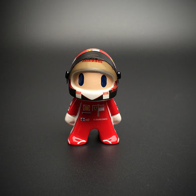 New F1 Ferrari Kimi Raikkonen Cute Mini Figure Formula 1 Race-Car Driver Figurine