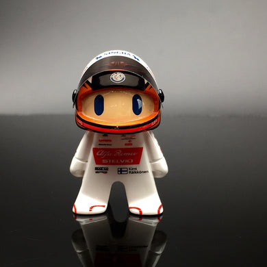 New F1 2020 Kimi Raikkonen Alfa Romeo Racing Cute Mini Figure Formula 1 Race-Car Driver Figurine
