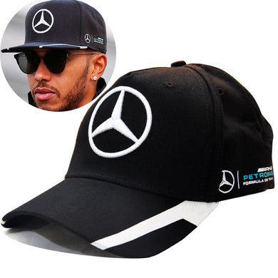 New Lewis Hamilton Racing Cap F1 Mercedes Benz Formula One 1 Baseball Hat Black Grey