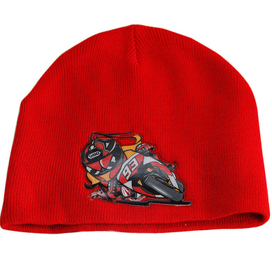 New Marc Marquez MM93 MotoGP Red Skull Cap Motogp Winter Racing Ski Beanie Hat