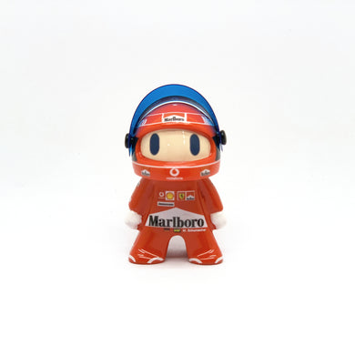 New F1 Ferrari Michael Schumacher Cute Mini Figure Formula 1 Toy Racing Driver Figurine
