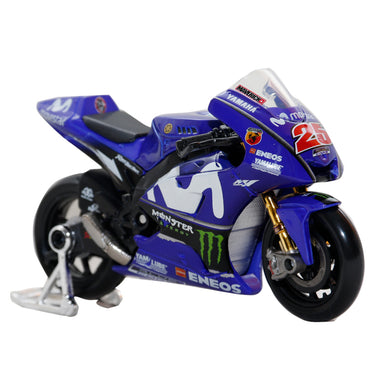 New Yamaha MotoGP Maverick Vinales #25 Racing Diecast Motorcycle Model Bike 1:18 By Maisto