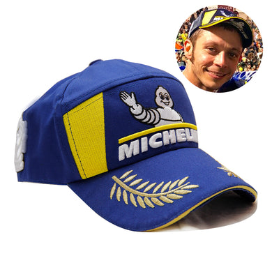 New 2021 Michelin Man Tire MotoGP WRC Champion Podium Baseball Hat Blue Racing Cap