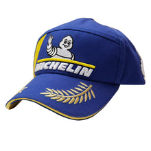 Load image into Gallery viewer, New 2021 Michelin Man Tire MotoGP WRC Champion Podium Baseball Hat Blue Racing Cap