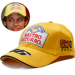 Official MotoGP Valentino Rossi 46 Vale Baseball Racing Hat 6 Champions Nastro Azzurro The Doctor Cap