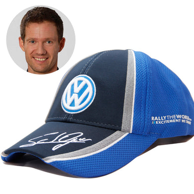 Official Sebastien Ogier VW Volkswagen WRC Podium #1 Baseball Hat Champion Signature Cap Blue