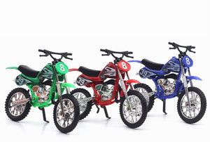 Cool Alloy Mini Dirt Bike Toy Die-cast Motorbike Finger Racing Motorcycle Model