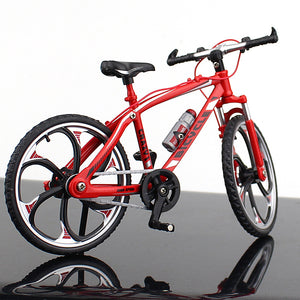 New Flat Bar Alloy Mini Dual Suspension Mountain Bike Toy MTB Finger Racing Bicycle