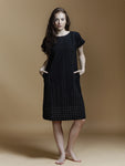 Black Drop Shoulder Dress - BunaStudio