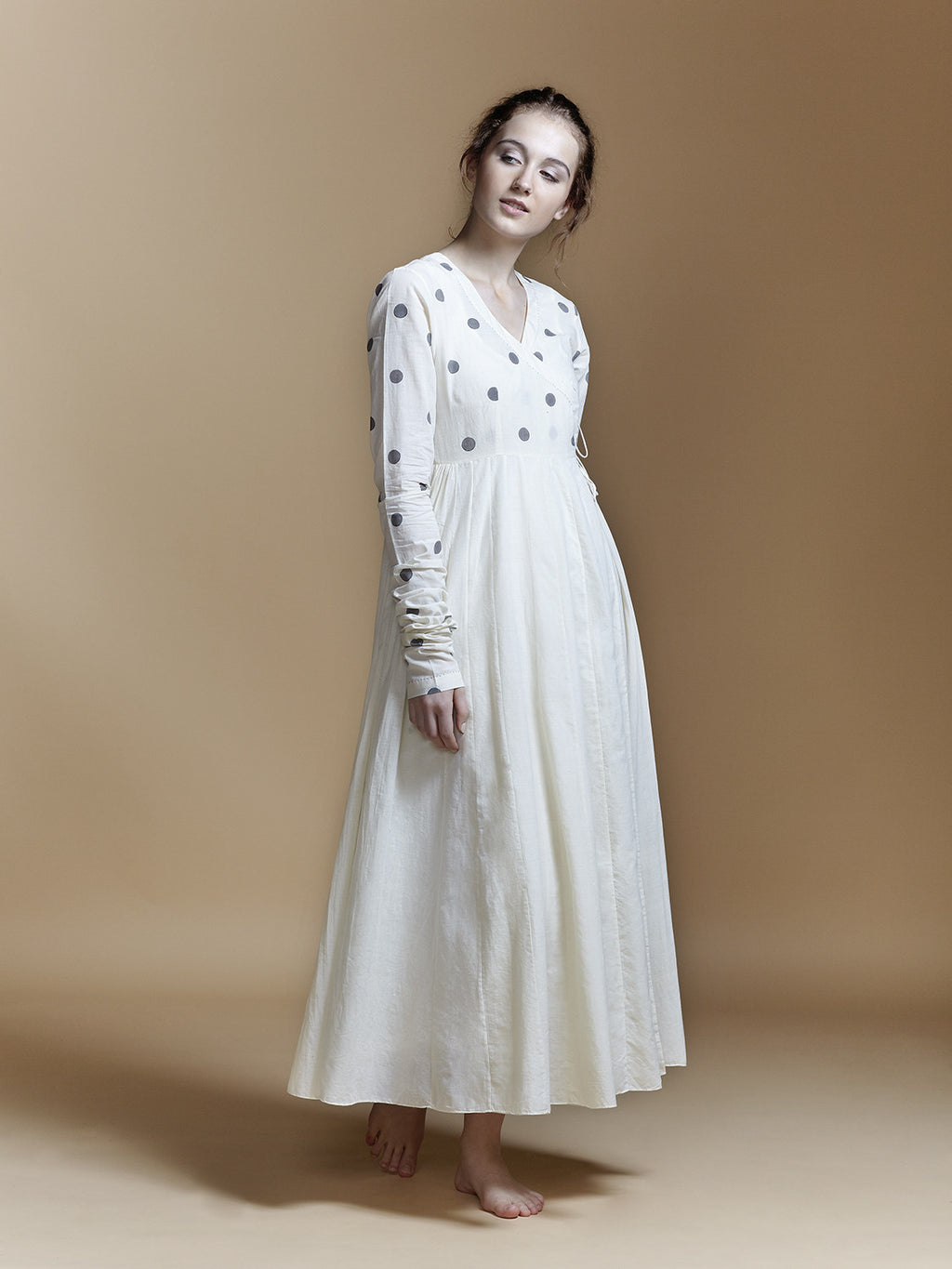 Dot Angarakha Maxi Dress - BunaStudio