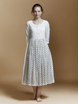 Heartland Polka Gathered Dress - BunaStudio