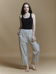 Stripe Crop Pants - BunaStudio