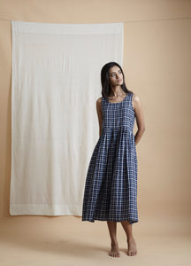 Check Floater Dress - BunaStudio