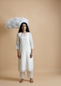 Clouds Side Slits Kurta - BunaStudio