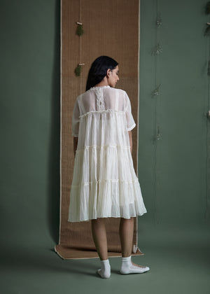 Foliage Tier Dress - BunaStudio